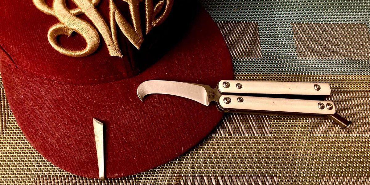 Balisong falcon Atropos (lame D2)   # Couteau # KnifeClub # Couteaux