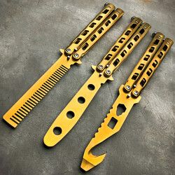 GOLD Butterfly Balisong Trainer Knife :