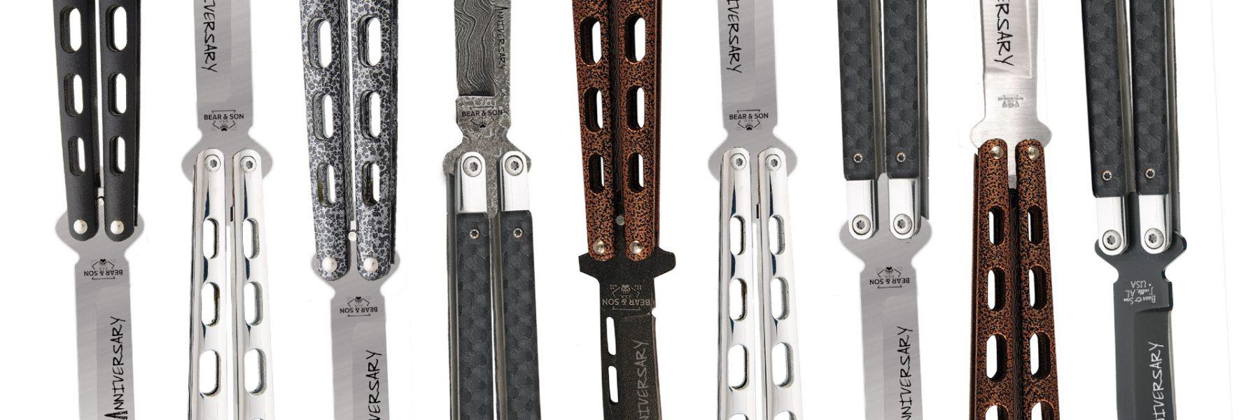 Premier coup d'oeil: Nouveaux couteaux Balisong Bear & Son Coutellerie   La coutellerie Bear & Son est une célébrité