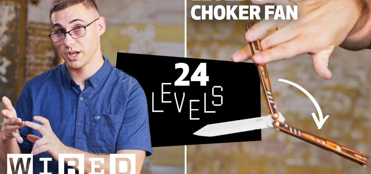 24 Levels of Butterfly Knife Tricks (Balisong): Easy to Complex  via @YouTube
